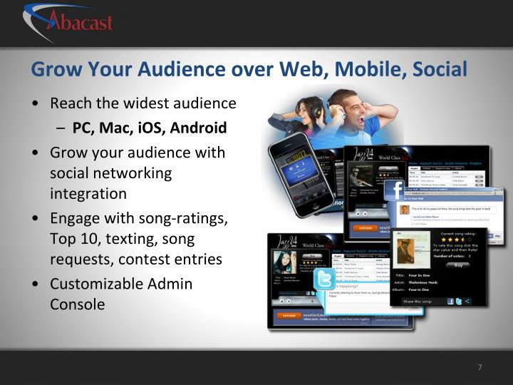 Grow Your Audience over Web, Mobile, Social