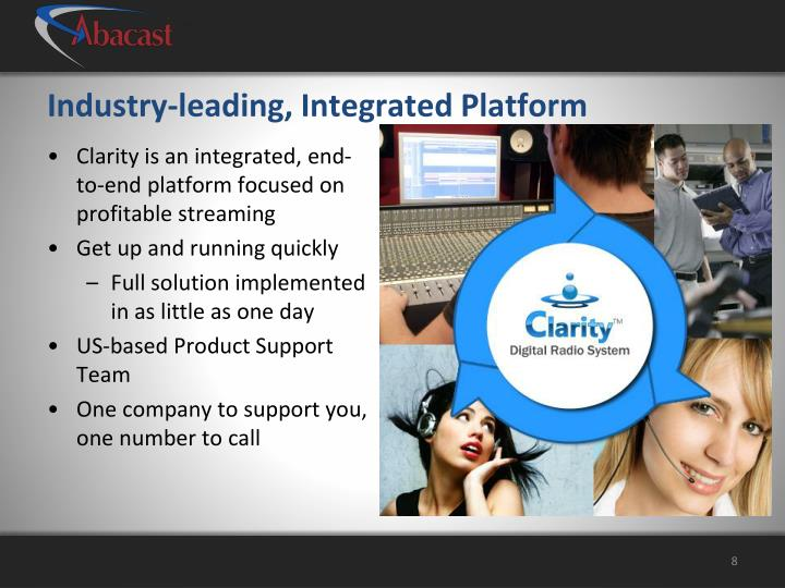 Industry-leading, Integrated Platform