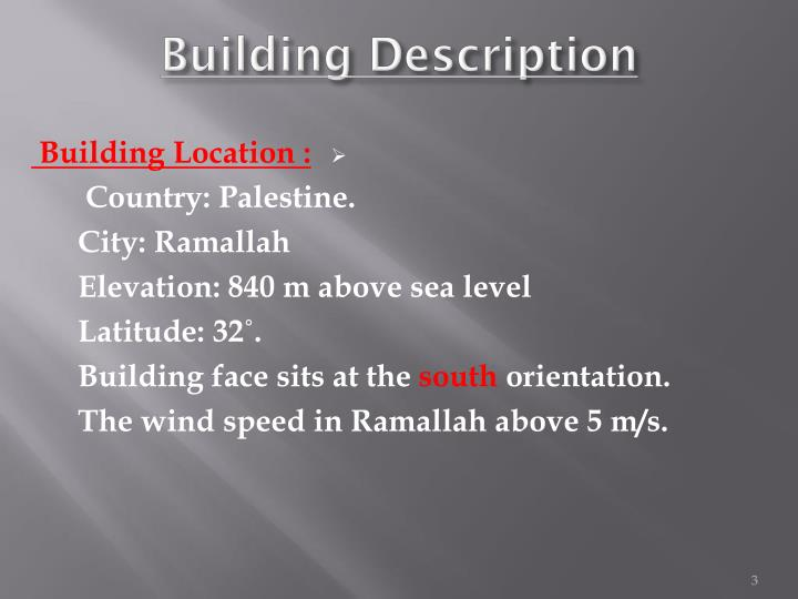 Building description