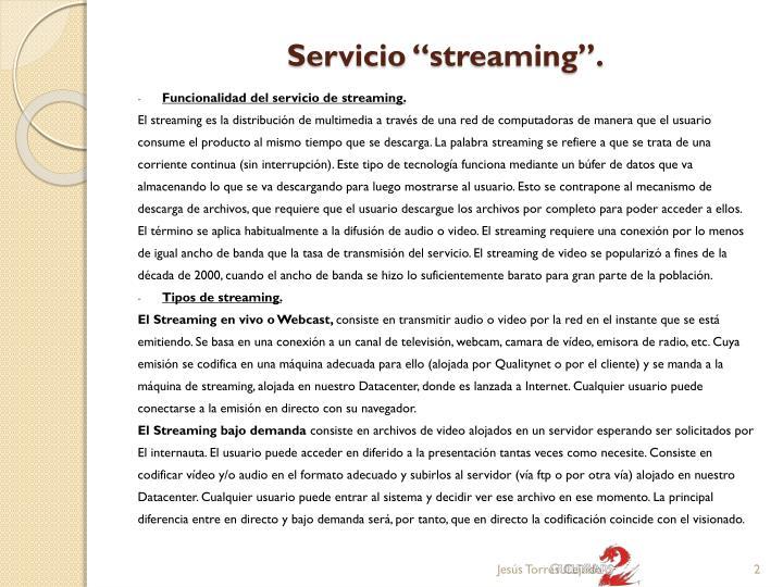 Servicio streaming1