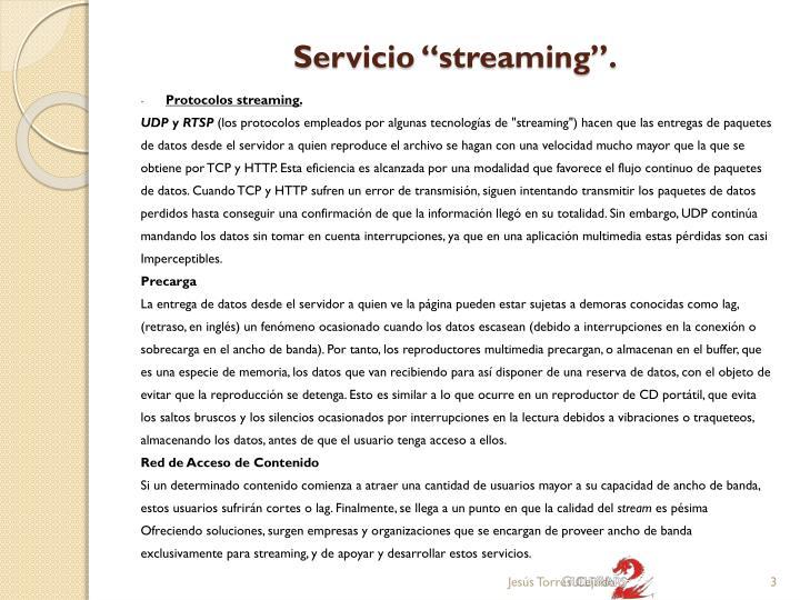 Servicio streaming2