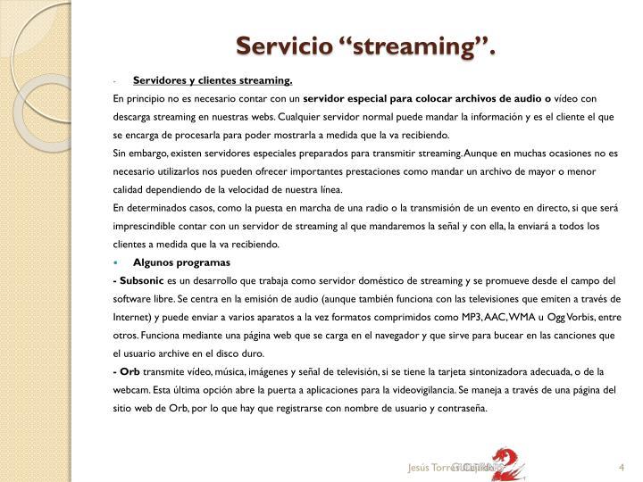 """Servicio """""""