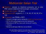 multicenter italian trial