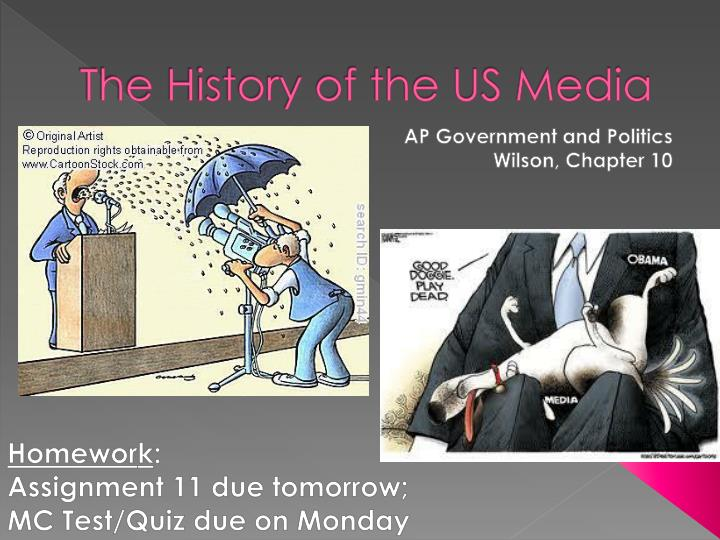 the history of the us media n.