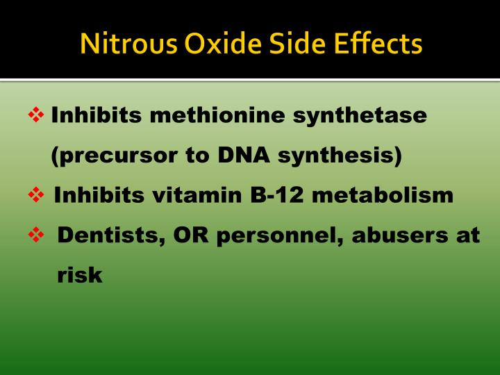 Nitrous Oxide Side Effects