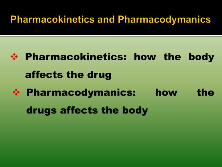 Pharmacokinetics and