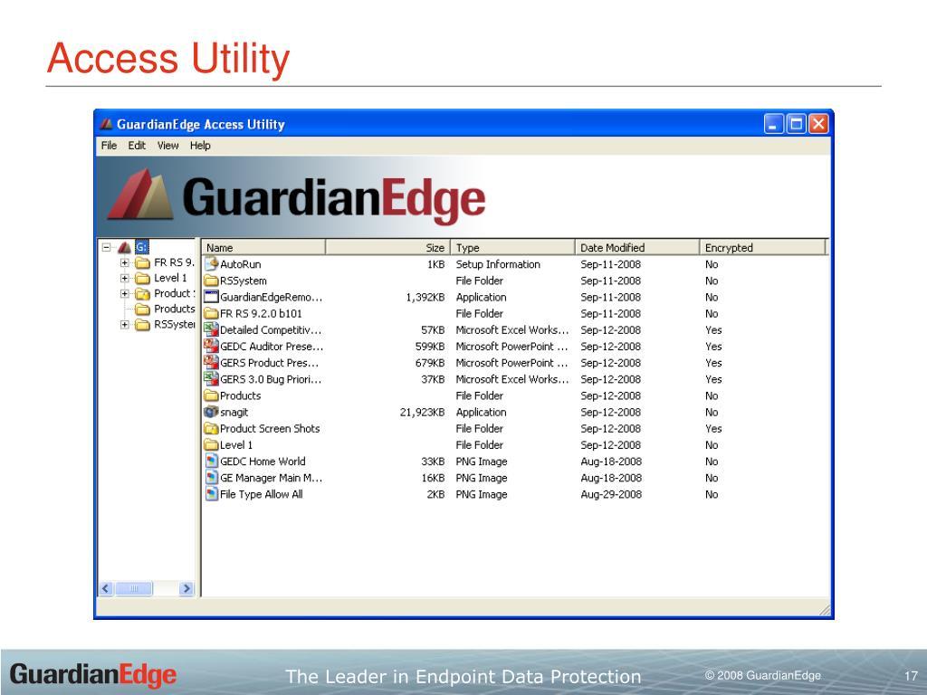 guardianedge access utility