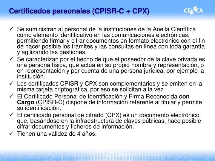 Certificados personales (