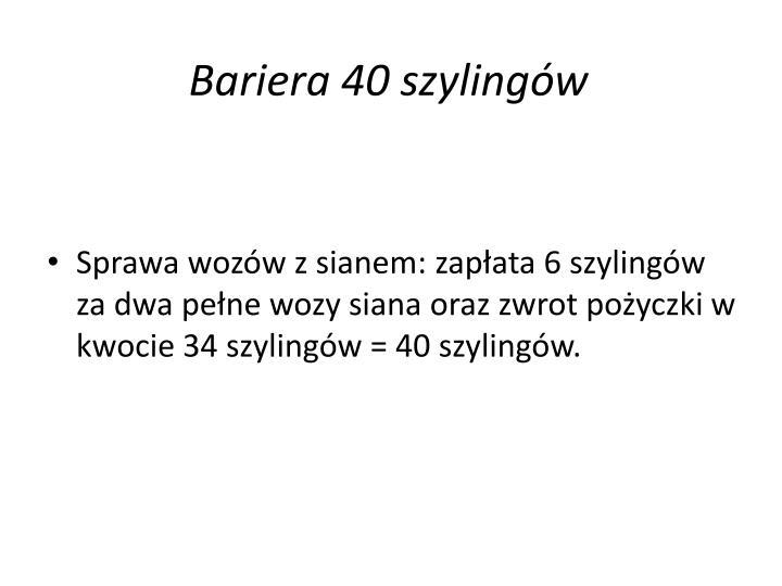 Bariera 40 szylingów
