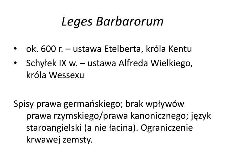 Leges barbarorum