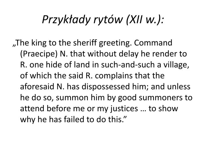 Przykłady rytów (XII w.):