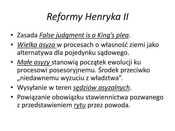 Reformy Henryka II