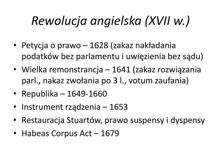 Rewolucja angielska (XVII w.)