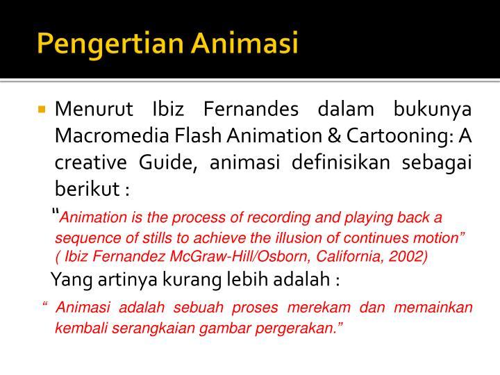 Pengertian animasi