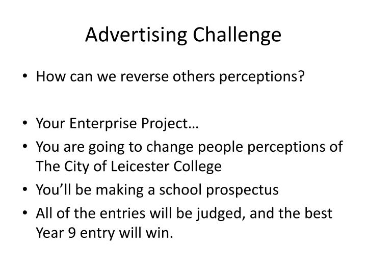 Advertising Challenge