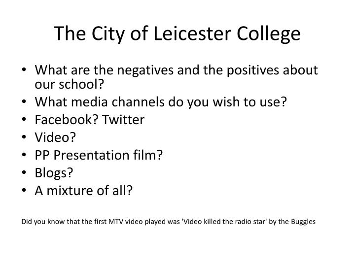 The City of Leicester College