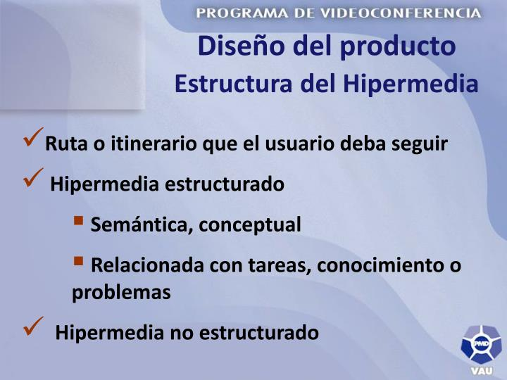 Diseño del producto