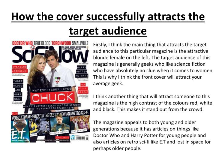How the cover successfully attracts the target audience