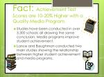 fact achievement test scores are 10 20 higher with a quality media program