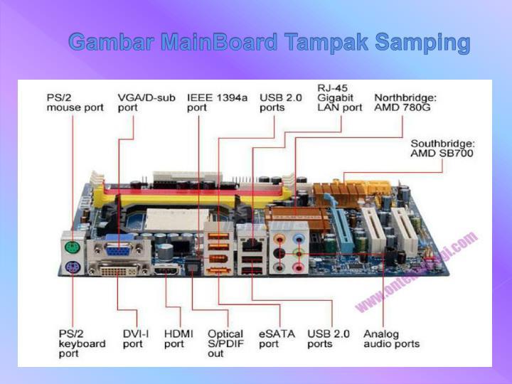 Gambar MainBoard Tampak Samping