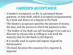 b anker s acceptance