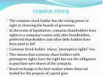 common stock1