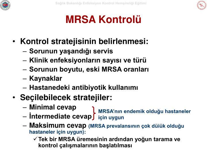 MRSA Kontrolü