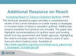 additional resource on reach