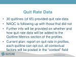 quit rate data