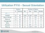utilization fy10 sexual orientation