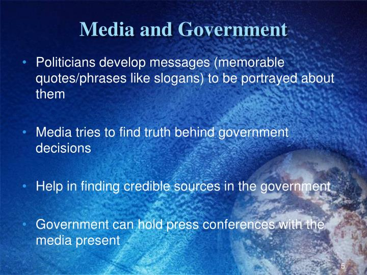 Media and Government