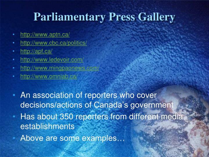 Parliamentary Press Gallery