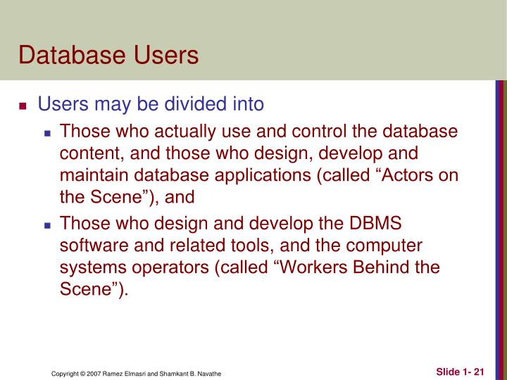 Database Users