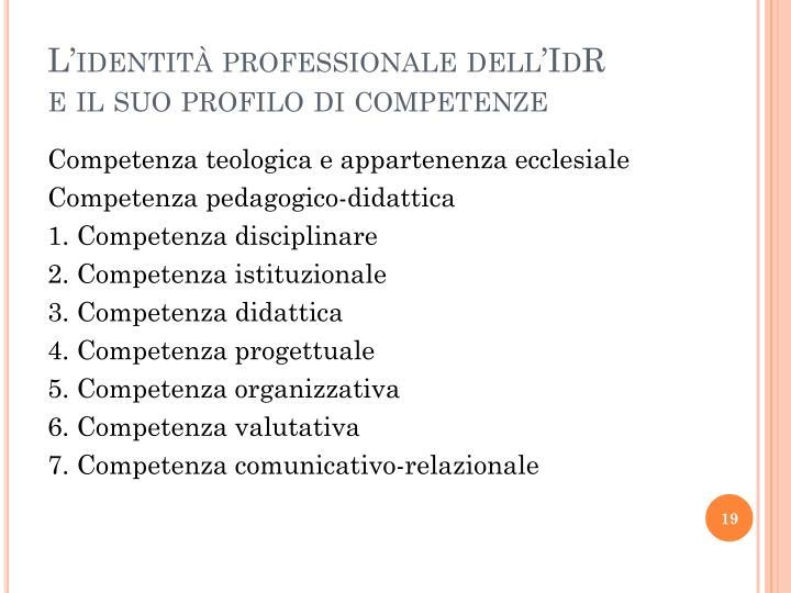 L'identità professionale dell'