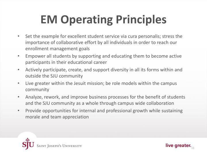 EM Operating Principles