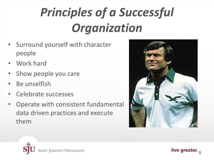Principles of a Successful Organization
