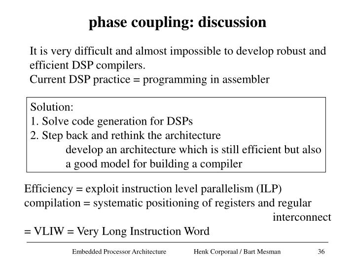 phase coupling: discussion