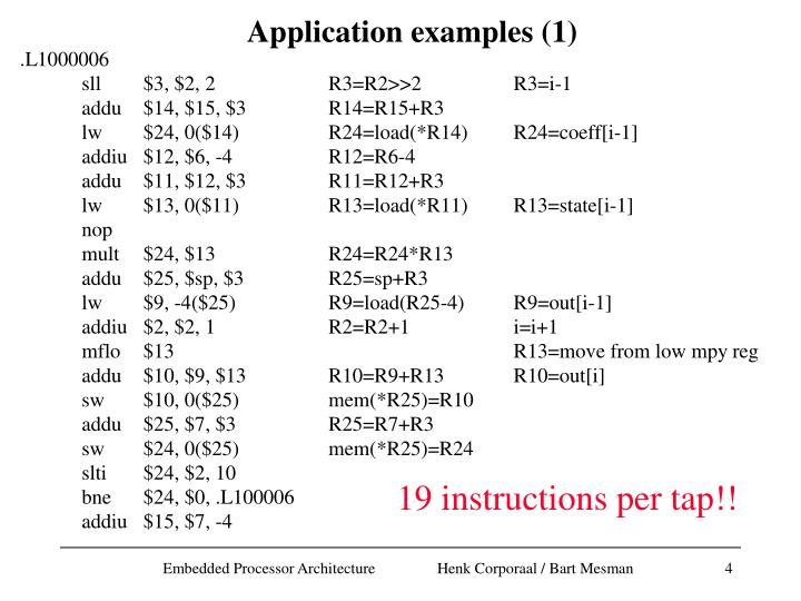 Application examples (1)