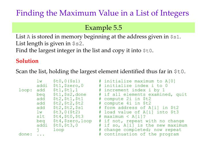 Finding the Maximum Value in a List of Integers