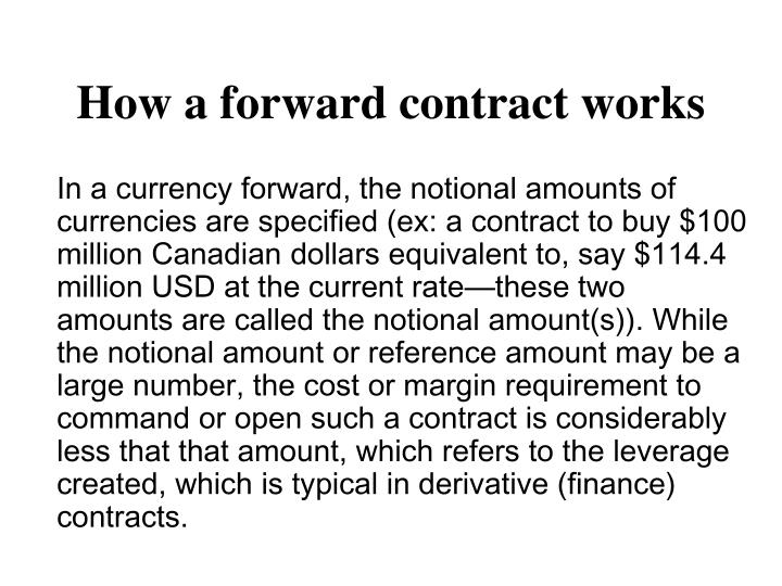 How a forward contract works