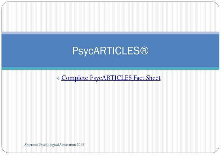 PsycARTICLES®