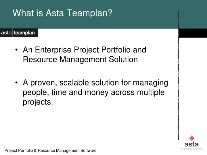 What is Asta Teamplan?