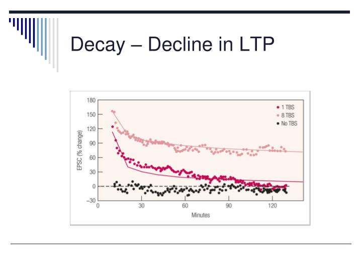 Decay – Decline in LTP