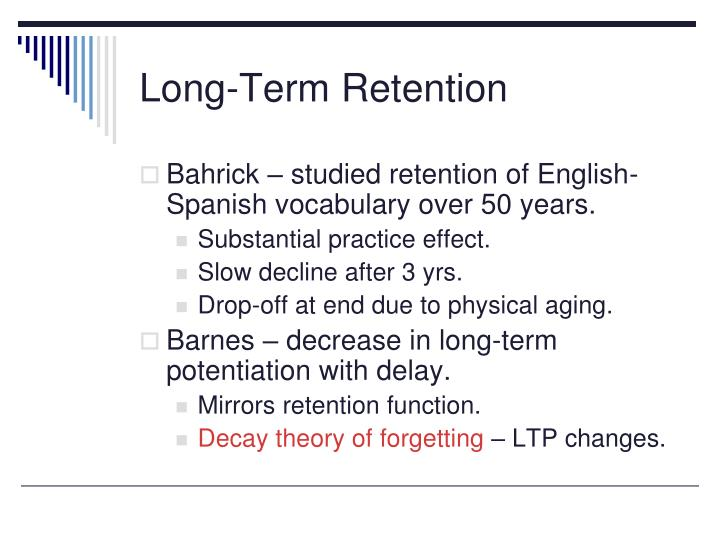 Long-Term Retention