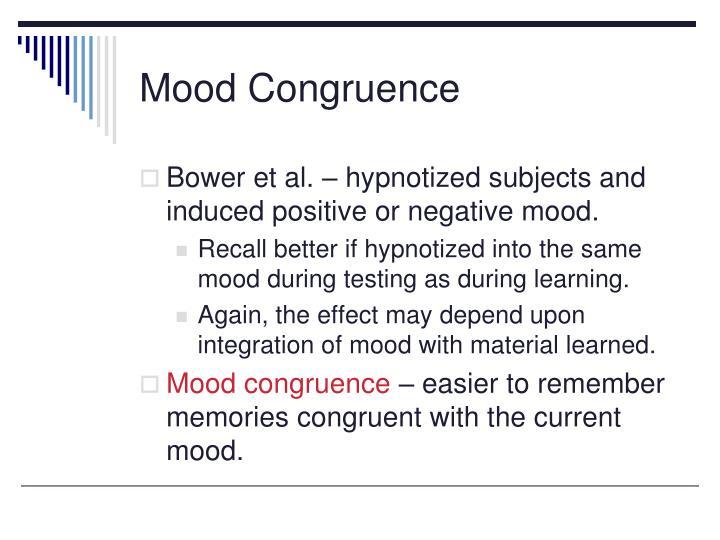 Mood Congruence