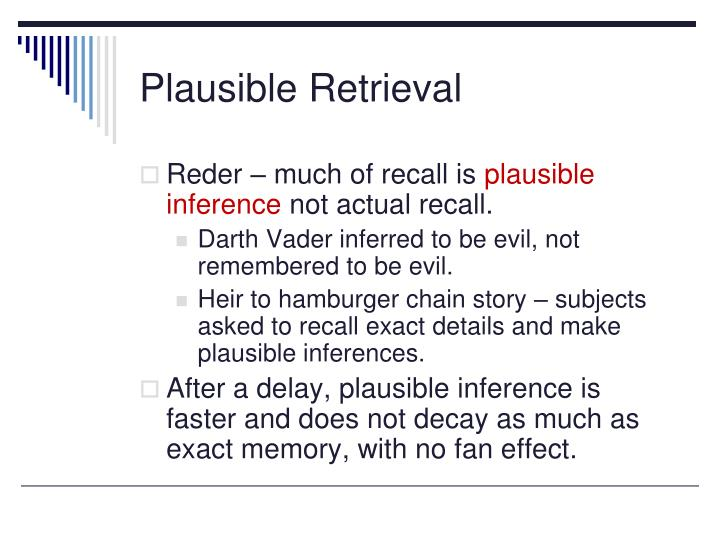 Plausible Retrieval