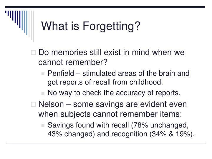 What is forgetting