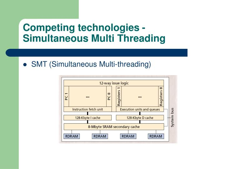 Competing technologies - Simultaneous Multi Threading