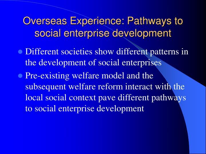 Overseas Experience: Pathways to social enterprise development
