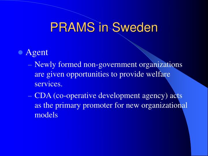 PRAMS in Sweden